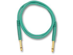 "Seismic Audio - SATSTS36C - Green 36"" TS 1/4"" Patch Cable"