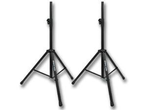 Seismic Audio - Pair of Steel Pro Audio PA/DJ Tripod Speaker Stands