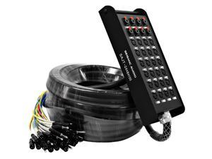 Seismic Audio - 24 Channel XLR Snake Cable 100 Feet with 8 Channel TRS returns