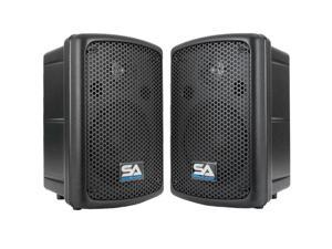 Seismic Audio - Pair of 8 Inch PA DJ Molded Speaker Cabinets