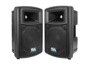 "Seismic Audio - NPS-10Pair - Molded Plastic 10"" PA DJ Speakers- 300 Watt Passive"