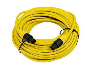 Seismic Audio - TW12S100Yellow - 12 Gauge 100 Foot Yellow Speakon to Speakon Professional Speaker Cable - 12AWG 2 Conductor ...