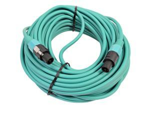 Seismic Audio - TW12S100Green - 12 Gauge 100 Foot Green Speakon to Speakon Professional Speaker Cable - 12AWG 2 Conductor ...
