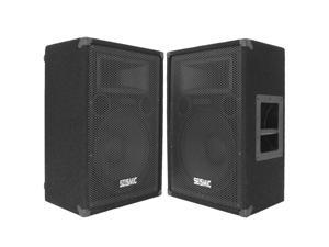 "Seismic Audio - FL-12MP - Pair of Premium 12"" PA Floor Monitor Speakers"