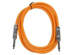 "Seismic Audio - SASTSX-6 - 6 Foot TS 1/4"" Guitar, Instrument, or Patch Cable Orange"