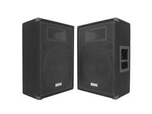 "Seismic Audio - FL-15MP (Pair) - 15"" FLOOR MONITORS - 400 Watts RMS - Stage/Studio PA/DJ Speakers"