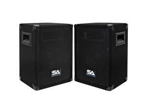 "Seismic Audio - Two 8 Inch Pro Audio Speaker Cabinets or 8"" Floor Monitors"