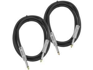 "Seismic Audio - (2 Pack) 5 Foot 1/4"" to 1/4"" Speaker Cables - PA DJ Patch Cords"