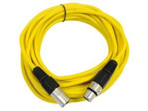 Seismic Audio - Yellow 25' XLR male to XLR female Microphone Cable