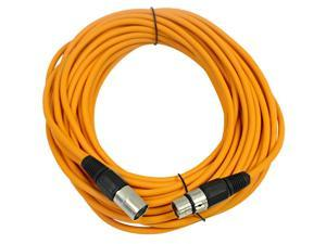 Seismic Audio - Orange 50' XLR male to XLR female Microphone Cable