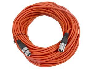 Seismic Audio - Red 100' XLR male to XLR female Microphone Cable