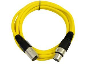 Seismic Audio - Yellow 10' XLR male to XLR female Patch Cable