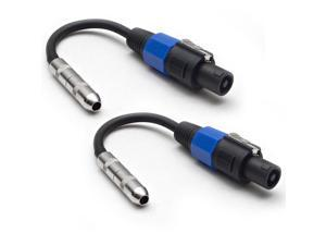 "Seismic Audio - 2 Pack - 1/4"" TS Female to Speakon Adapter Patch Speaker Cable"