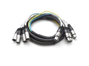 Seismic Audio - 4 Channel XLR Snake Cable 10 Foot Pro Audio Colored Snake Cable