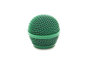 Seismic Audio - SA-M30Grille-Green - Replacement Green Steel Mesh Microphone Grill Head - Compatible with SA-M30, Shure SM58, ...