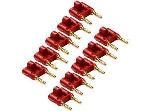 Seismic Audio - SAPT62Ban - Banana Connectors - 10 Pack of Red