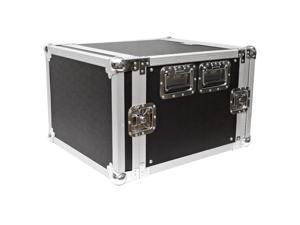 Seismic Audio - 8 Space Rack Flight Case - Fits Standard 19 inch Gear- Pro Audio