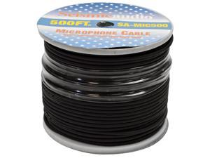 Seismic Audio - 500' Feet of Black PA Microphone Cable on a Spool