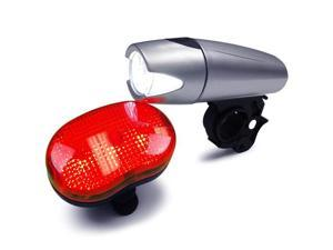 BV Bicycle Super Bright 5 LED Headlight, 3 LED Taillight, quick-release mount