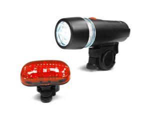 Ibera BV L801 Bicycle Super Bright 5 LED Headlight and 3 LED Taillight, quick-release mount