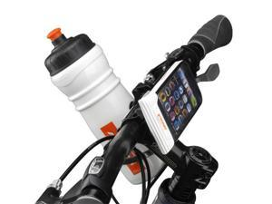 Ibera PB7Q1 Bicycle Weather-Resistant Smartphone Handlebar Mount w/ Bottle Cage Adapter for Mobile Devices