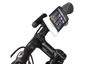 Ibera Bicycle Weather-Resistant Smartphone Handlebar Mount with Mini Handlebar (White)