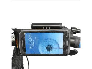 "Ibera Bicycle Waterproof Smartphone Case with Mini Handlebar, 6"" screen (Samsung Galaxy S III, Galaxy S4, HTC One), Black"