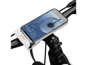 "Ibera IB-PB16Q4 Waterproof 6"" Screen Smartphone Bicycle Stem Mount for Samsung Galaxy S3 / S4 / HTC One (White)"