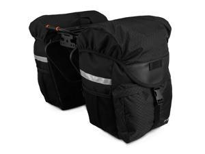 BV Large Pannier Set, Quick-Release, 34.8 L, 3M Reflective Trim, Mesh Pockets, Buckle-Strap, Drawstring Enclosure, Carrying ...