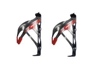 Ibera Bicycle Carbon Color Water Bottle Cage Pair- Extra Lightweight Aluminum