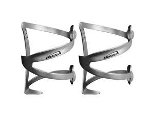 Ibera Bicycle Silver Lightweight Ergonomic Water Bottle Cage Pair - Side-Access Aluminium