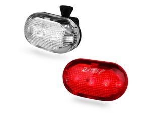 BV Bicycle 5 LED Headlight 5 LED Taillight, Safety Light Set, Quick-Release, Water Resistant