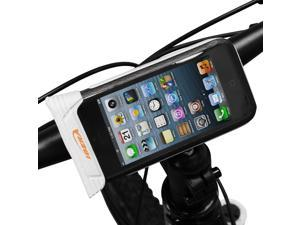 Ibera Waterproof iPhone 4, iPhone 4s, iPhone 5, iPhone 5s Smartphone Bicycle Stem Mount, Adjustable Angle