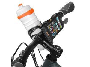 Ibera Bicycle Handlebar Waterproof iPhone 5, iPhone 5s, iPhone 5c Smartphone Case, Bottle Cage Adapter, Quick-Release, Black