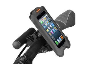 "Ibera iPhone 4, iPhone 4s Smartphone Case, Bar Clamp with Removable Mini Handlebar (4"" screens), Black"