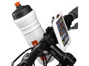 "Ibera iPhone 4, iPhone 4s Smartphone Case, Bar Clamp with Removable Bottle Cage Adapter (4"" screens), White"