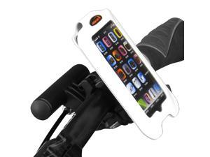 "Ibera Bicycle iPhone 4, iPhone 4s Smartphone Case, Handlebar Mount with Removable Mini Handlebar (4"" screens), White"
