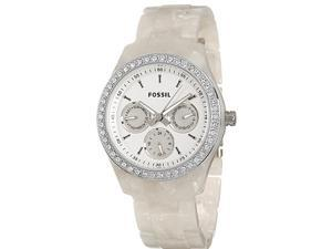 Fossil Stella Cream Pearlized Bracelet White Dial Women's watch #ES2790
