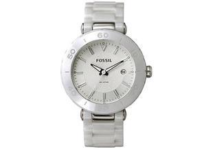Fossil Ceramic Mini Allie Silver Dial Women's watch #CE1030