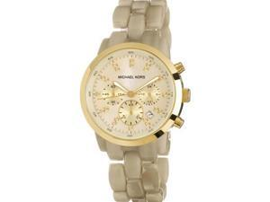 Michael Kors Chronograph Stainless Steel and Horn Acrylic Ladies Watch MK5217
