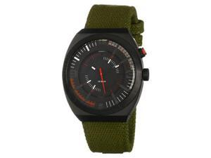 Diesel Men's DZ1412 Green Cloth Analog Quartz Watch with Black Dial