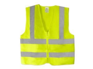 Neiko High Visibility Neon Green Zipper Front ANSI/ISEA Safety Vest