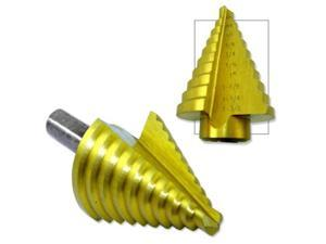 Neiko Titanium Step Drill Bit, 13/16 to 1-3/8  in 1/16-Inch Increments