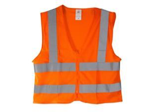Neiko High Visibility Neon Orange Zipper Front ANSI/ISEA Safety Vest