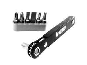 Neiko Pocket Size 1/4-Inch Drive Mini Ratcheting Screwdriver and Bit Set