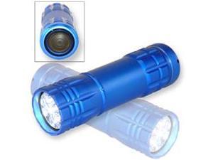 Neiko Super-Bright 9 LED Heavy-Duty Compact Aluminum Flashlight - Cool Blue Color