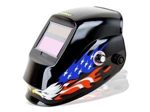 Neiko Auto Darkening Solar Powered ANSI Welding Helmet -American Eagle