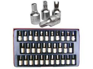 Neiko Security Bit Socket Set, 1/4-Inch Drive, 32-Piece
