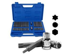 Neiko Pro Torx, Hex, Tripe Square Bit Socket Set, 40-Piece