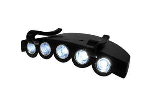 5-LED Clip-on Light For Baseball Cap with Tilt, Hands Free